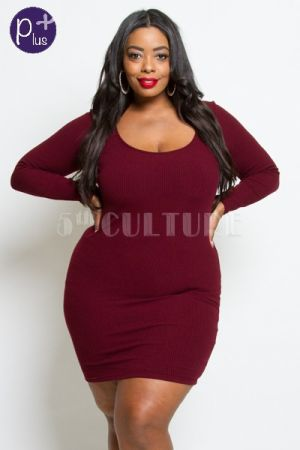 356f62070f5 Plus size sexy back bodycon dress | Marsha's Clothing