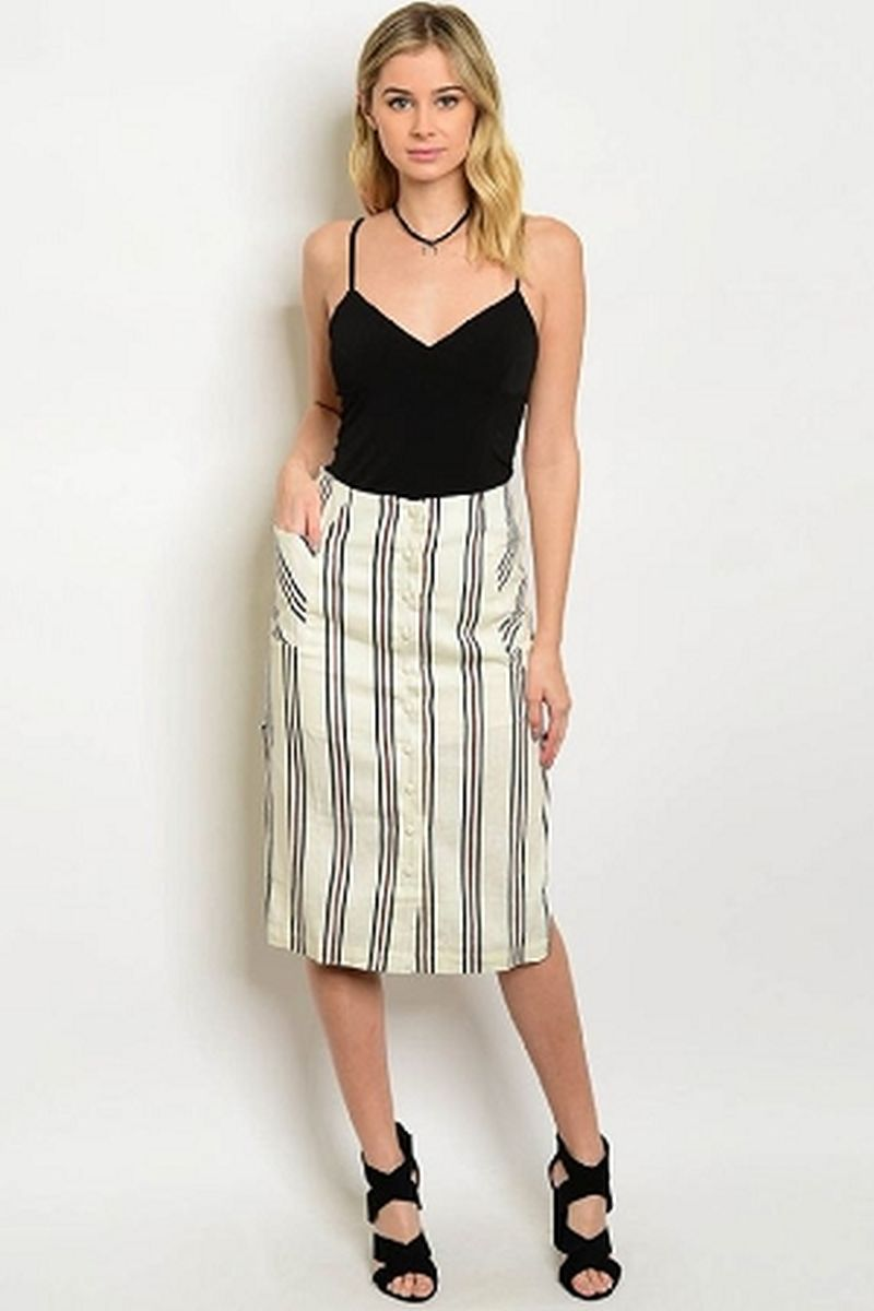 8d53c2958a4ba ivory black rust skirt. Tap to expand
