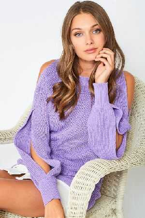 Open Sleeves sweater Top