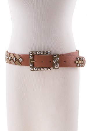 FACETED STUDS GYPSY BELT