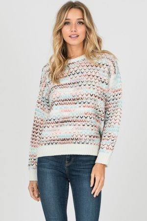 Needle work knit sweater top