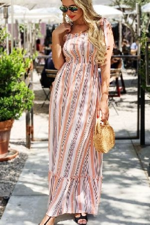 Multi Stripe Casual Dress