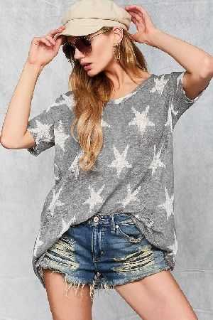 All over star print top