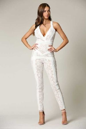 Jumpsuit with contrast detailing all throughout
