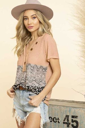 Snake and leopard print  tops for women