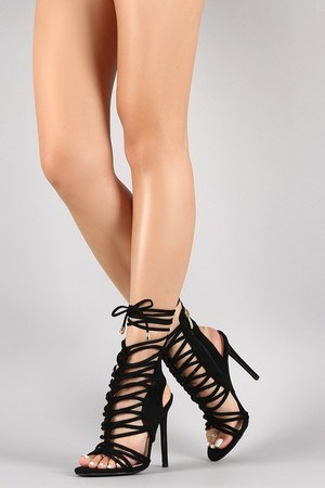 Caged constructions luce up front heels