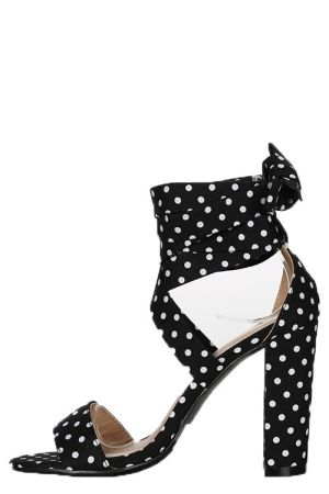 modern techniques outlet on sale reliable quality Black and white polka dot heels
