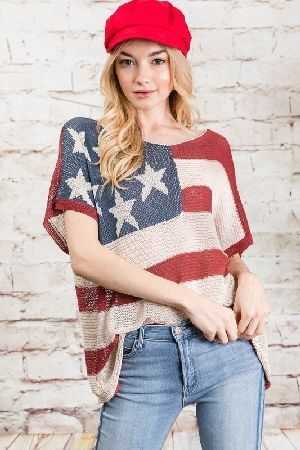 Stars and stripe american flag top