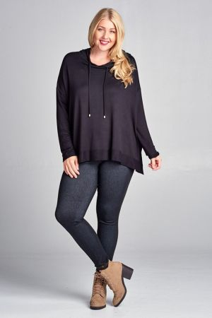 Plus size french terry hoodie