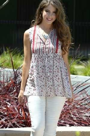 Harmony floral print sleeveless top