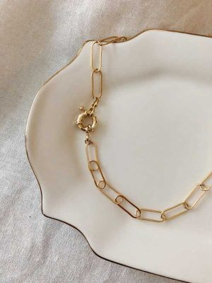 Elongated Linked Short Chain Chocker