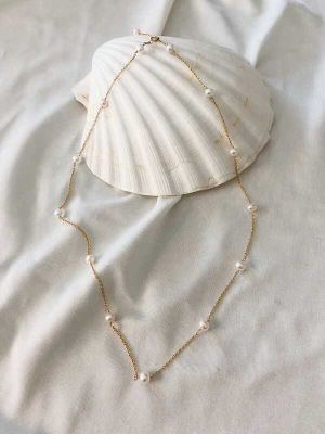 Freshwater Dot Necklace