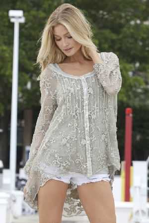 Marisa embroidered silk top