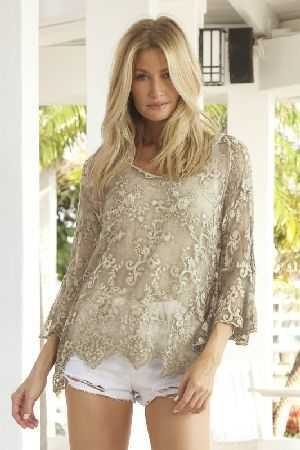 Adrienne embroidered silk top