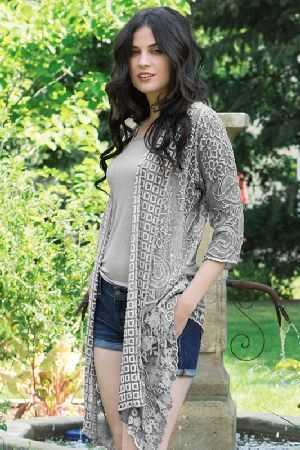 Marielle embroidered silk cardi