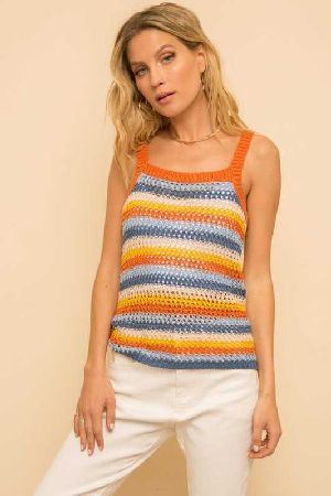 Crochet Knit tank Top