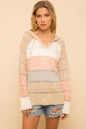 Mixed Color Block Hoodie
