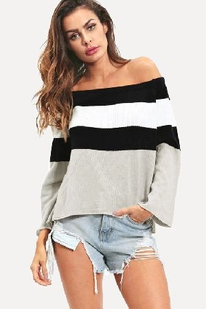 color block off the shoulder