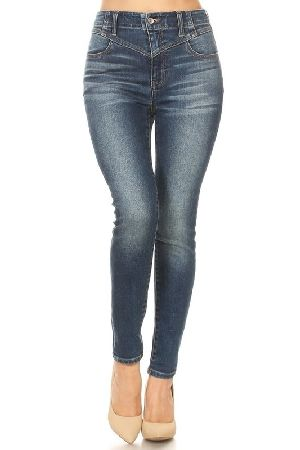 Sultry ultra high waist stretch denim skinny jeans