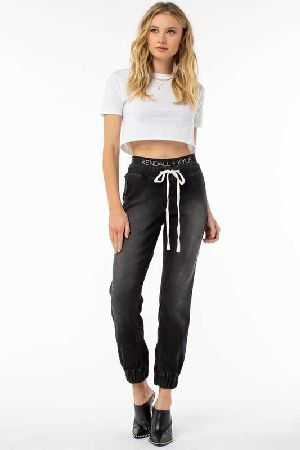 Kendall And Kylie jogger with logo printed waistband