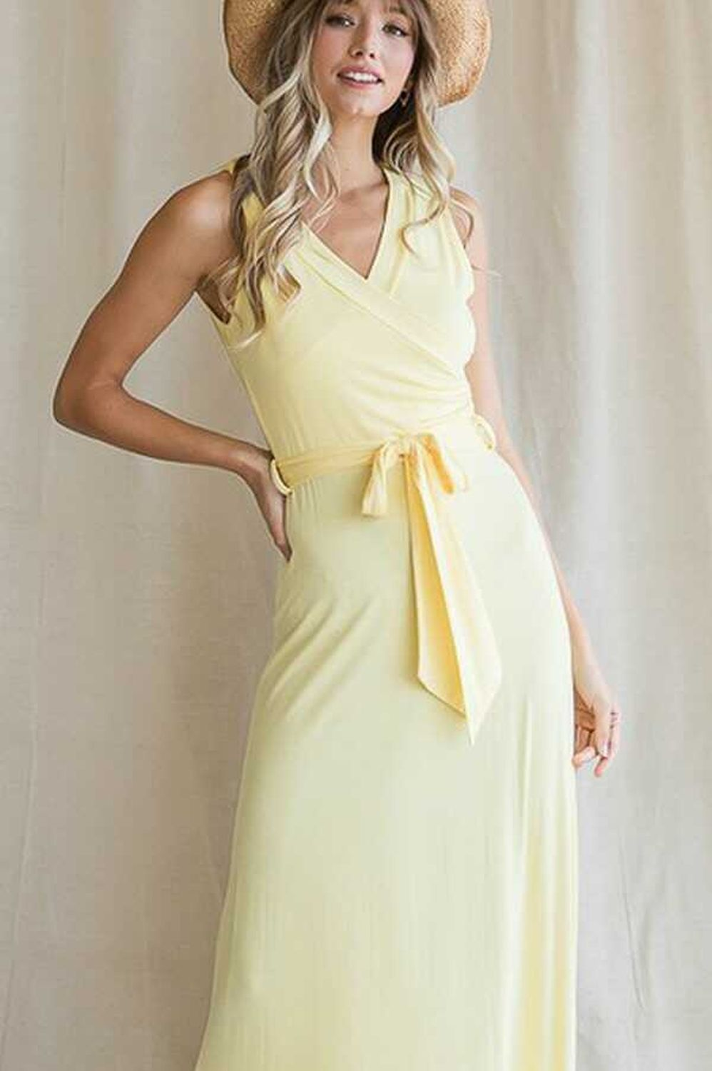 Sleeveless Belted Maxi Dress