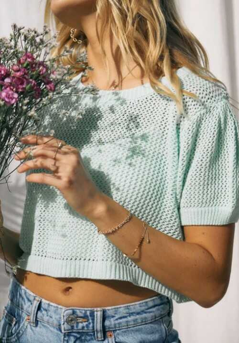 half Sleeves Sweater Top