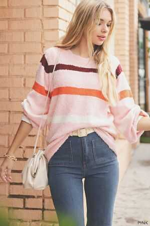 Multi Color Striped Crewneck sweater