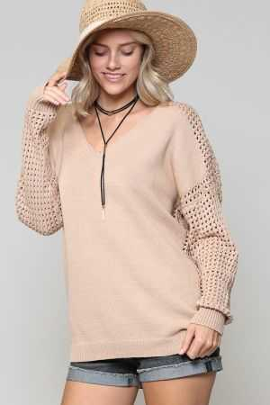 V SHAPED BOXY LOOSE FIT SWEATER
