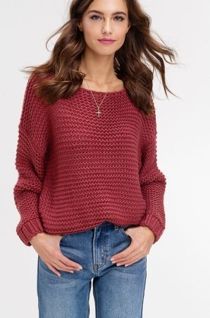 Soft touch chuncky knit sweater