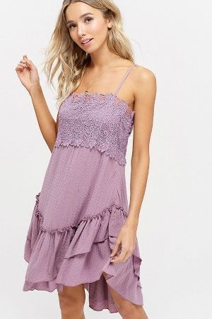 Textured ruffle sleeveless dress
