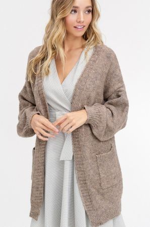 Two tone soft touch cardigan