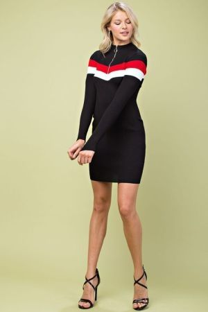 Colorblock sporty mini dress