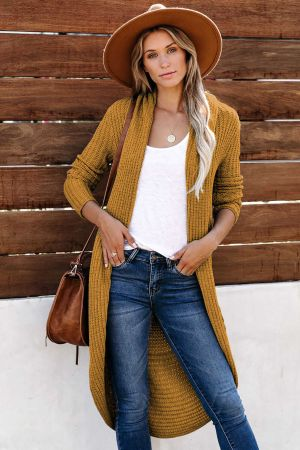 Brown Cashmere Blend Convertible Cardigan