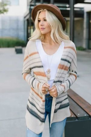 Multicolor Spice Stripe Cardigan
