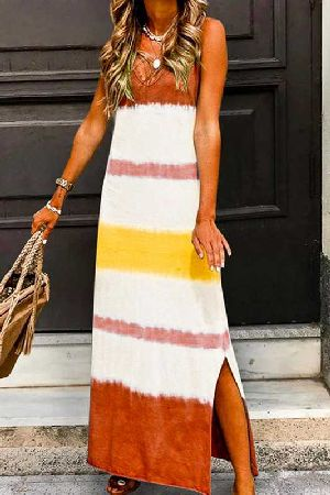 Dip Dyed Casual Maxi Dress