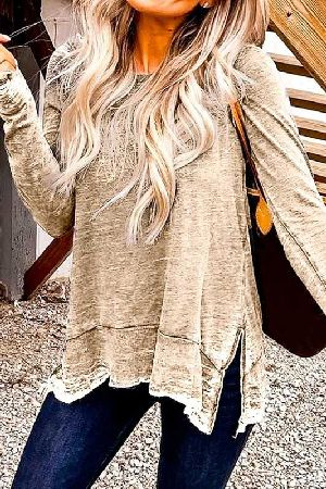 Long sleeve loose fit casual top