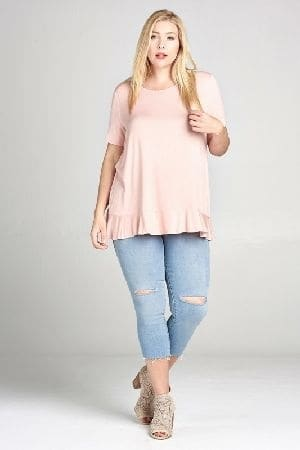Solid knit top with a back cutout detail