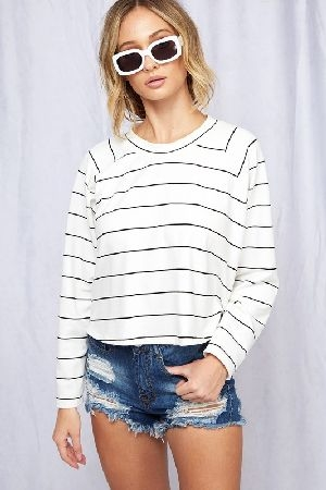 Basic essential striped top