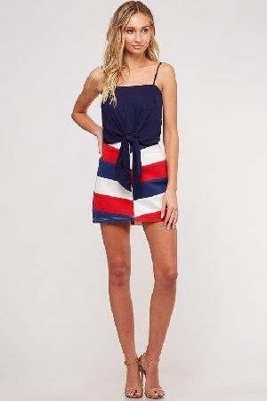 Red White and Blue mini skirt