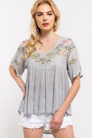 A gorgeous embroidery woven top