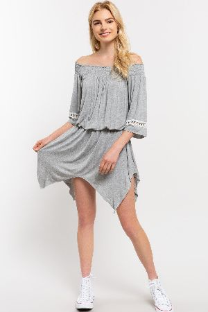 Elastic off shoulder dress