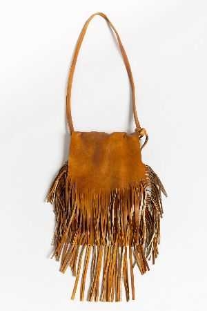 Fringe flap shoulder bag