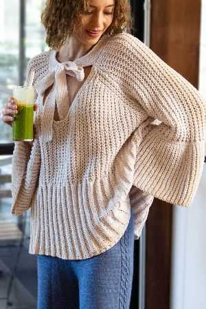 A lovely feminine chenille sweater