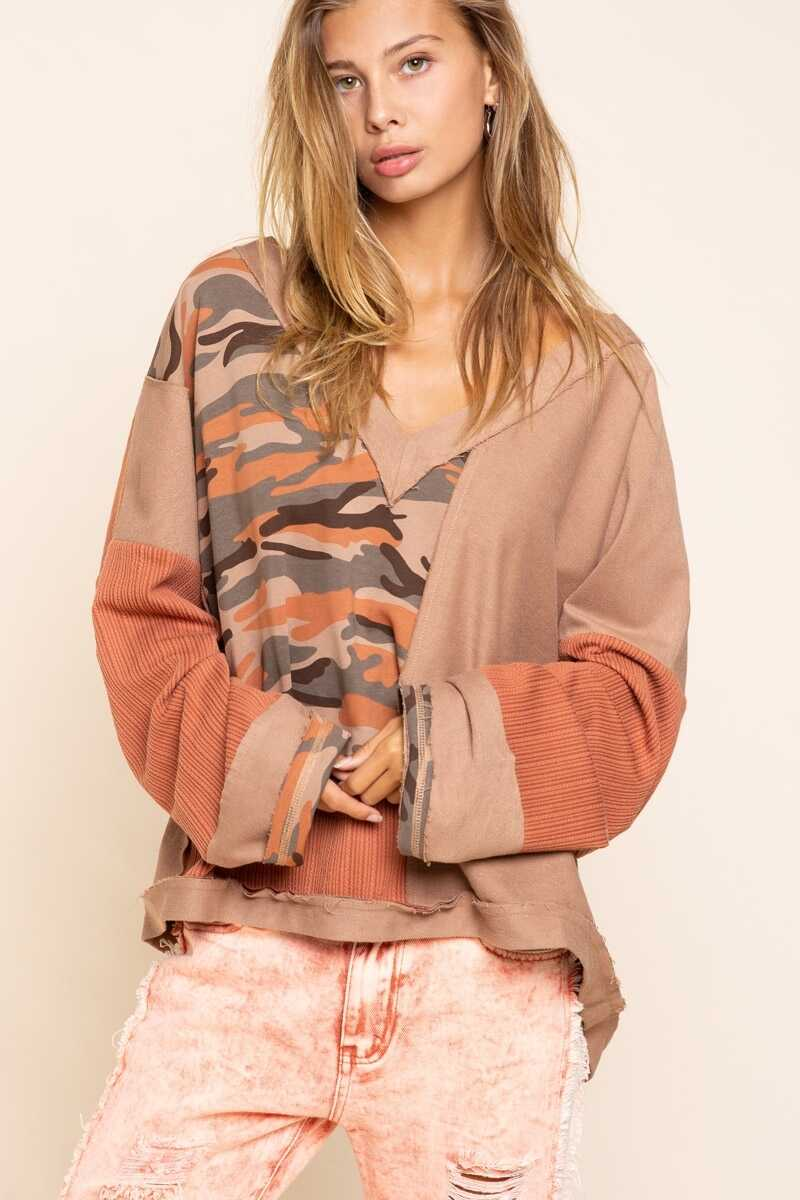 Camo knit Sweater
