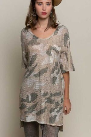 Camouflage Light Weight Top