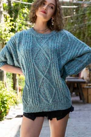 Comfy 3 tone chunky sweater