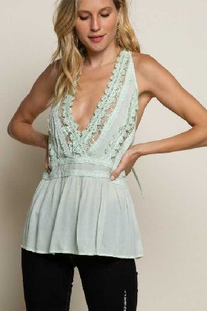Dolled Up Peplum Halter Top
