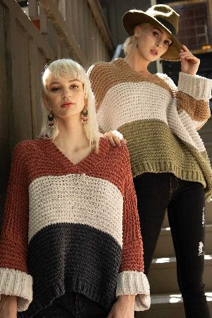 Everlasting Stripe Chenille Sweater
