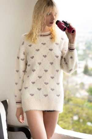 Heart long sleeve sweater