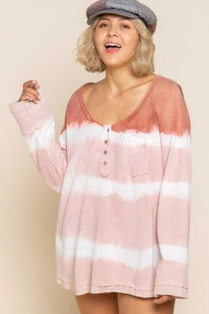 Wild Straberry Stripe Long Sleeve Top